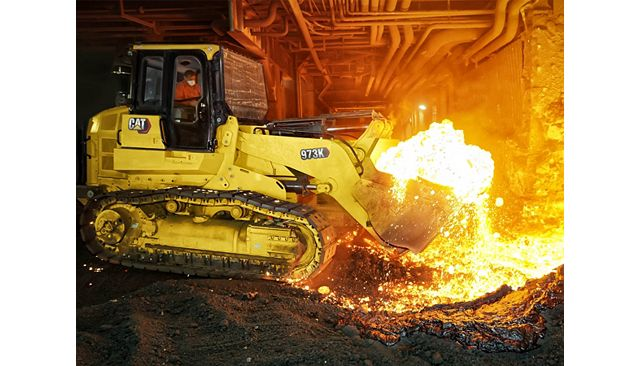 Cat 973K Track Loader - Steel Mill HANDLE THE HEAT