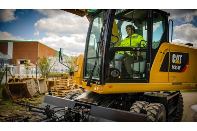 Cat M314F Wheeled Excavator - SAFELY HOME EVERY DAY