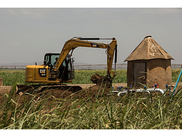 307E Mini Excavator in working application in Southern Africa