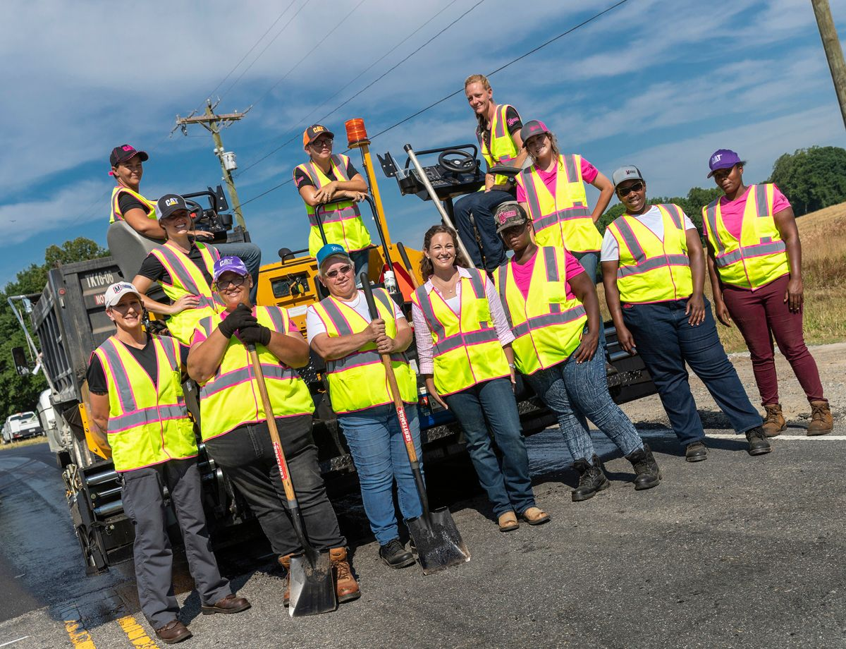 Mary Katherine Harbin and the nation's first all-female paving crew