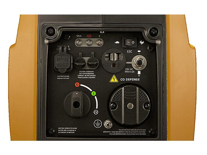 INV1250 Control panel close-up