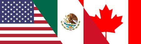 Drapeaux États-Unis-Mexique-Canada