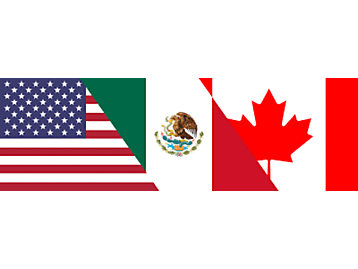 US-Mexico-Canada Flags