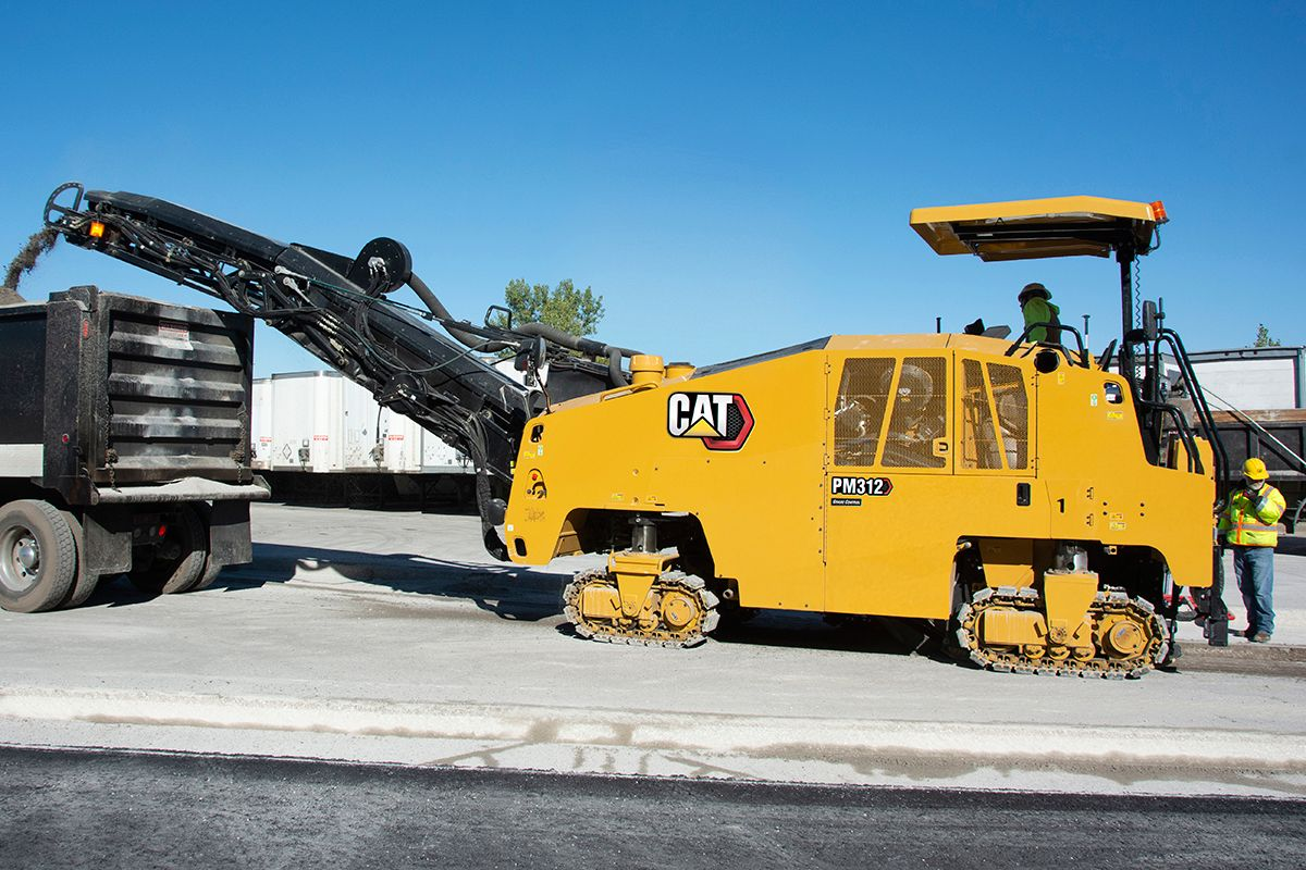 PM312 Cold Planer with Track Undercarriage