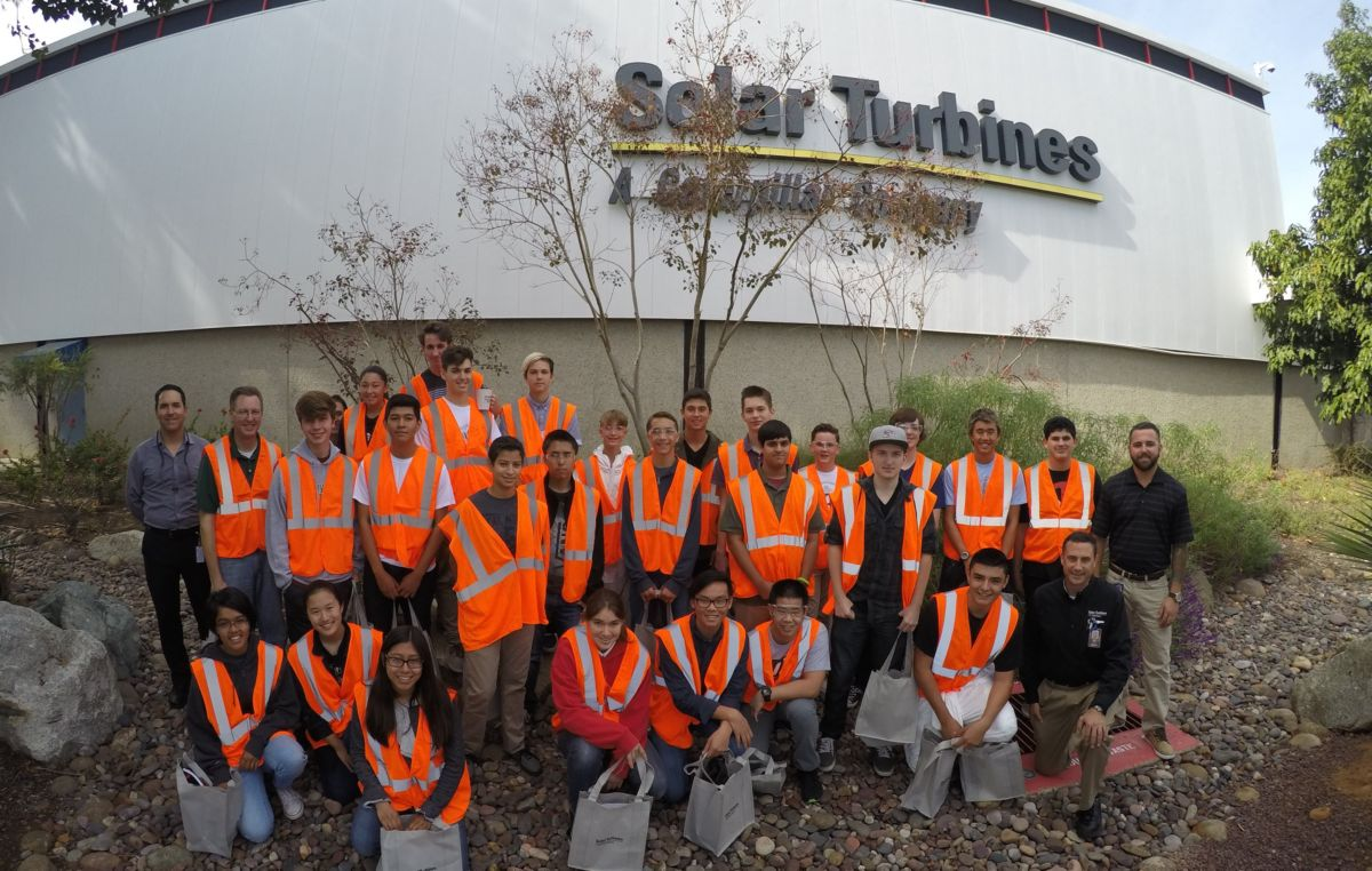 High school students touring Solar Turbines Kearny Mesa facility.