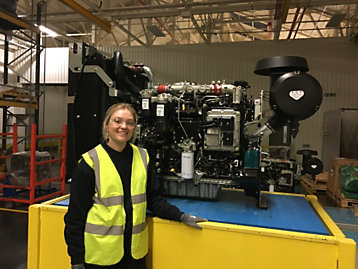 Zoe Leeder a Peterborough apprentice who recently completed a qualification in Advanced Manufacturing Engineering