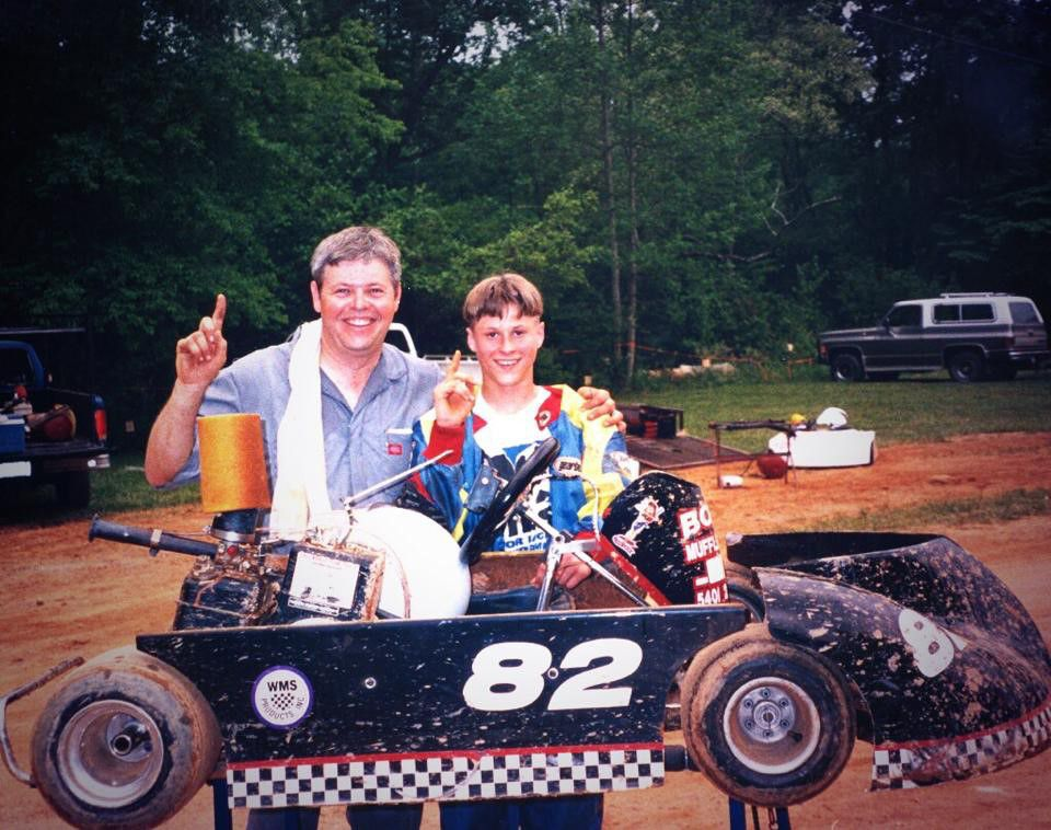 Luke and his dad sharing their love for racing.