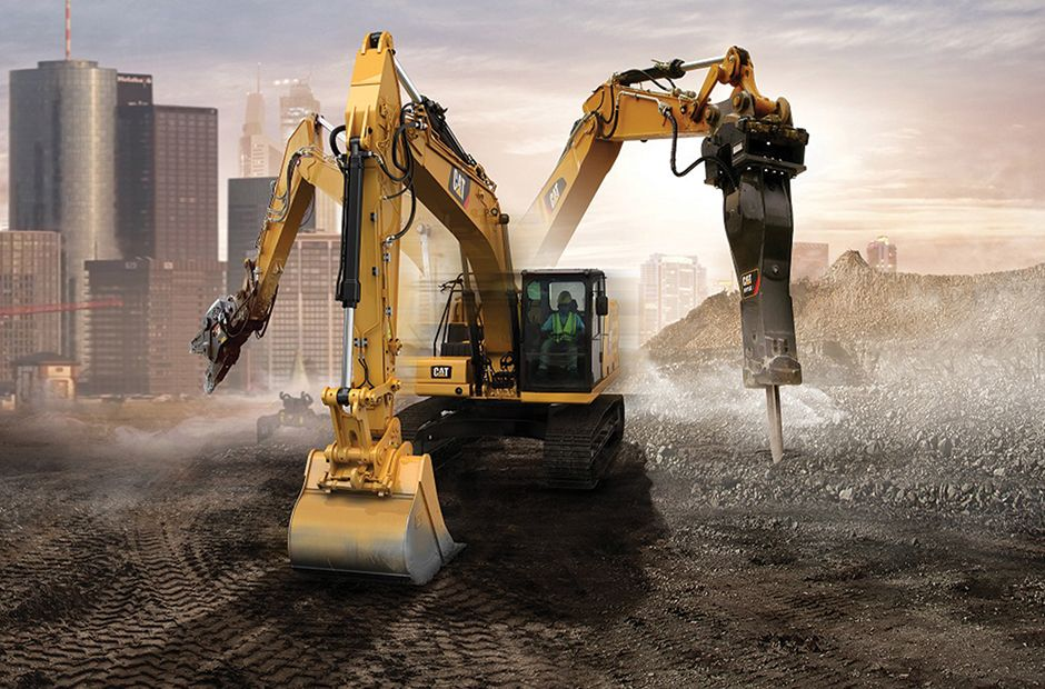 Work Tools on an Excavator