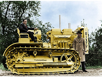 Pictured here is machine number 1C3, the first machine produced on the assembly line.