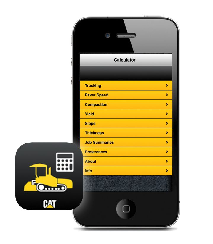 Paving Production Calculator Phone Image
