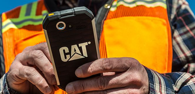Close-up of Operator Holding Phone