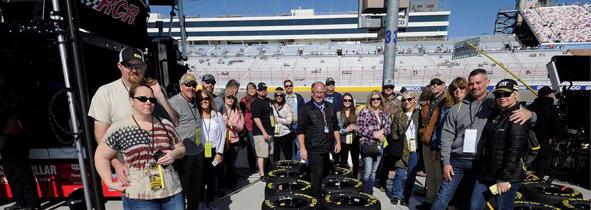 Cat Racing at the NASCAR Pennzoil 400 race