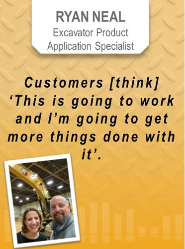 Ryan Neal, Excavator Product Application Specialist