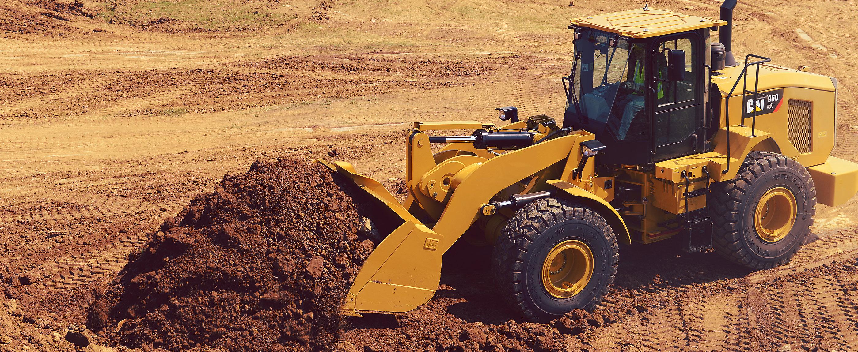 950 GC machine in construction environment
