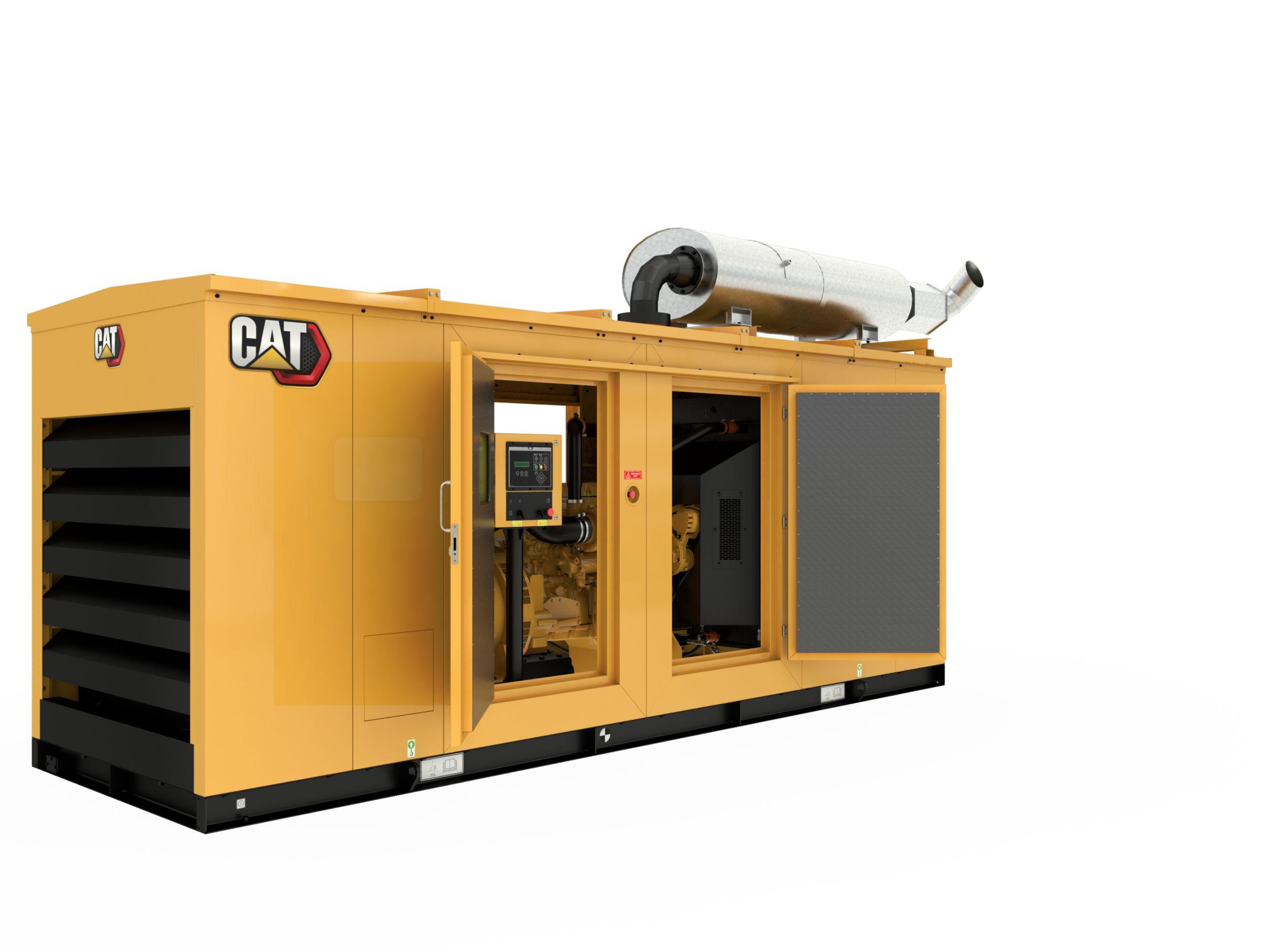 C13 Diesel Generator Enclosure Doors open>