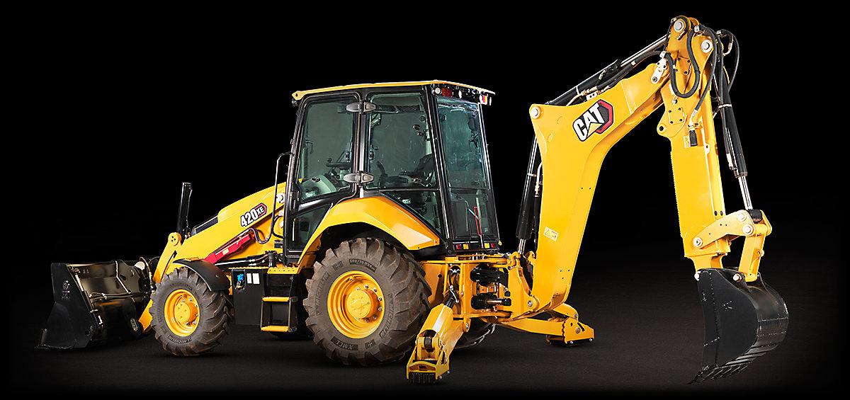 The Cat 420 XE Backhoe Loader