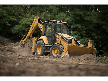 The Cat 428 backhoe loader