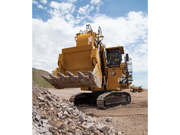 Cat 6030 hydraulic mining shovel, front view