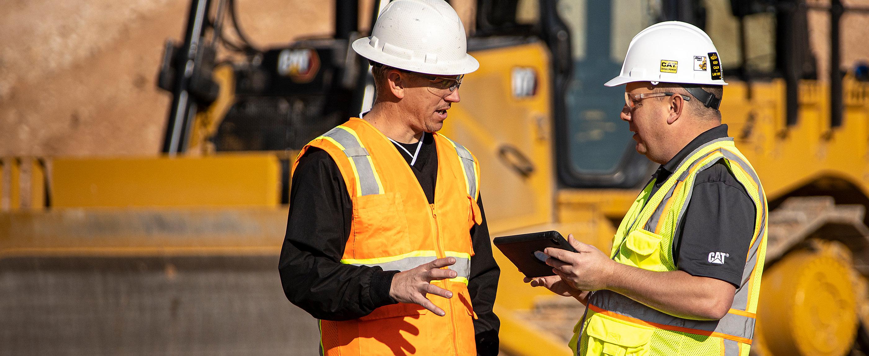Operators looking at blog