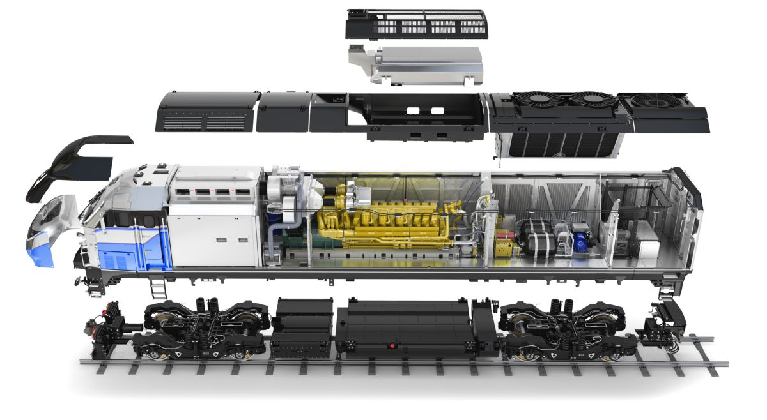 Cat® C175 Engine, F125 Passenger Locomotive