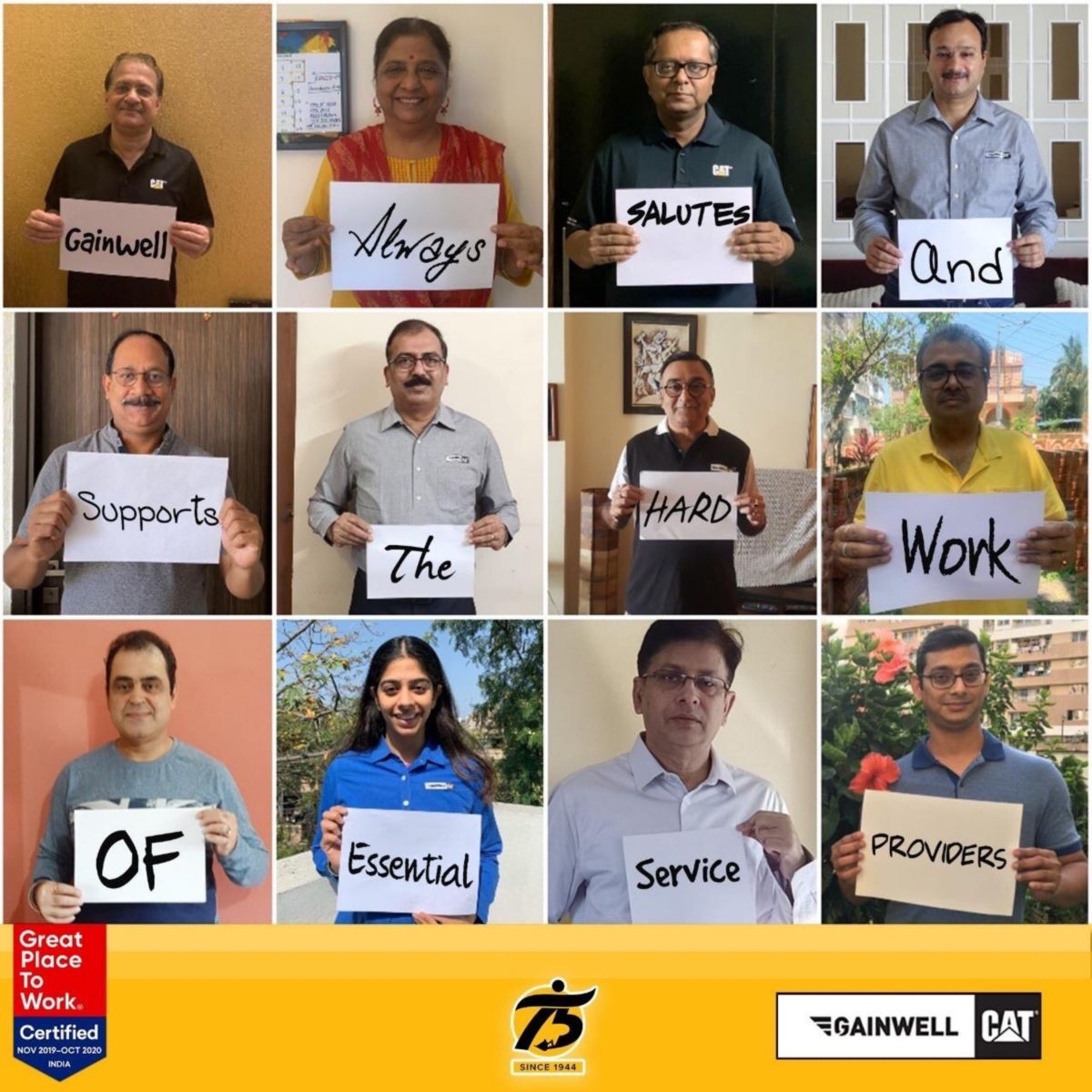 Thank you Essential Service Providers