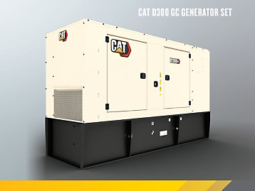 Cat D300 GC Enclosed Genset