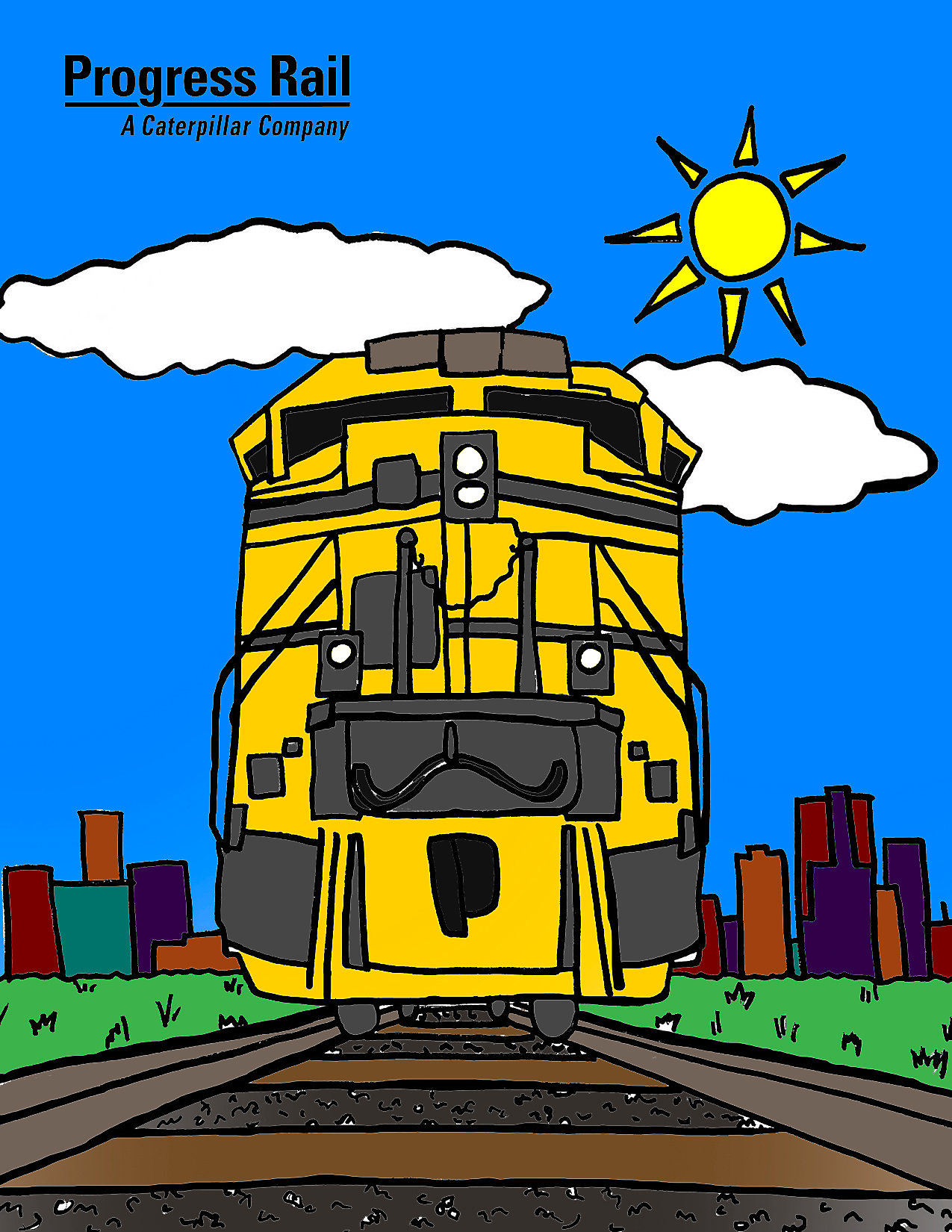 Progress Rail Coloring Book