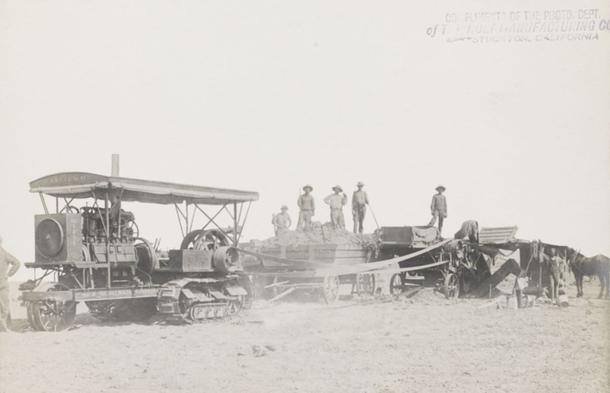 Holt tractors were replacing horses