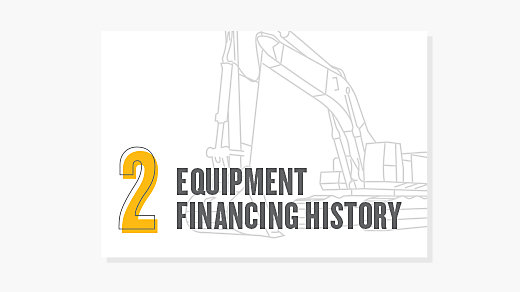 Equipment Financing History