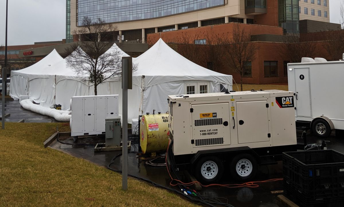 Hospital Emergency Tents powered by Cat Gensets