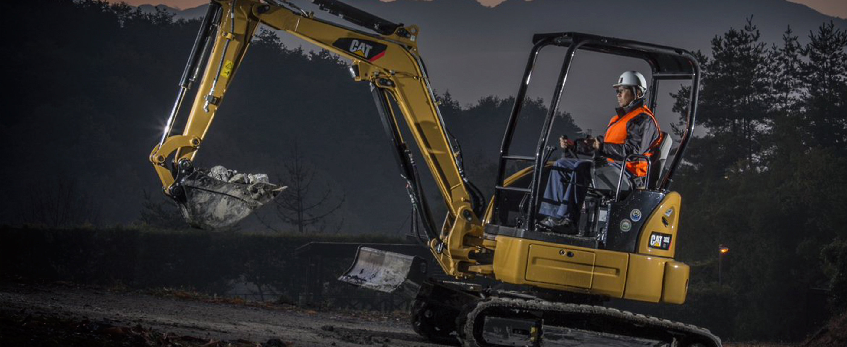 Cat mini excavators are powerful yet compact machines used in a wide variety of  work.