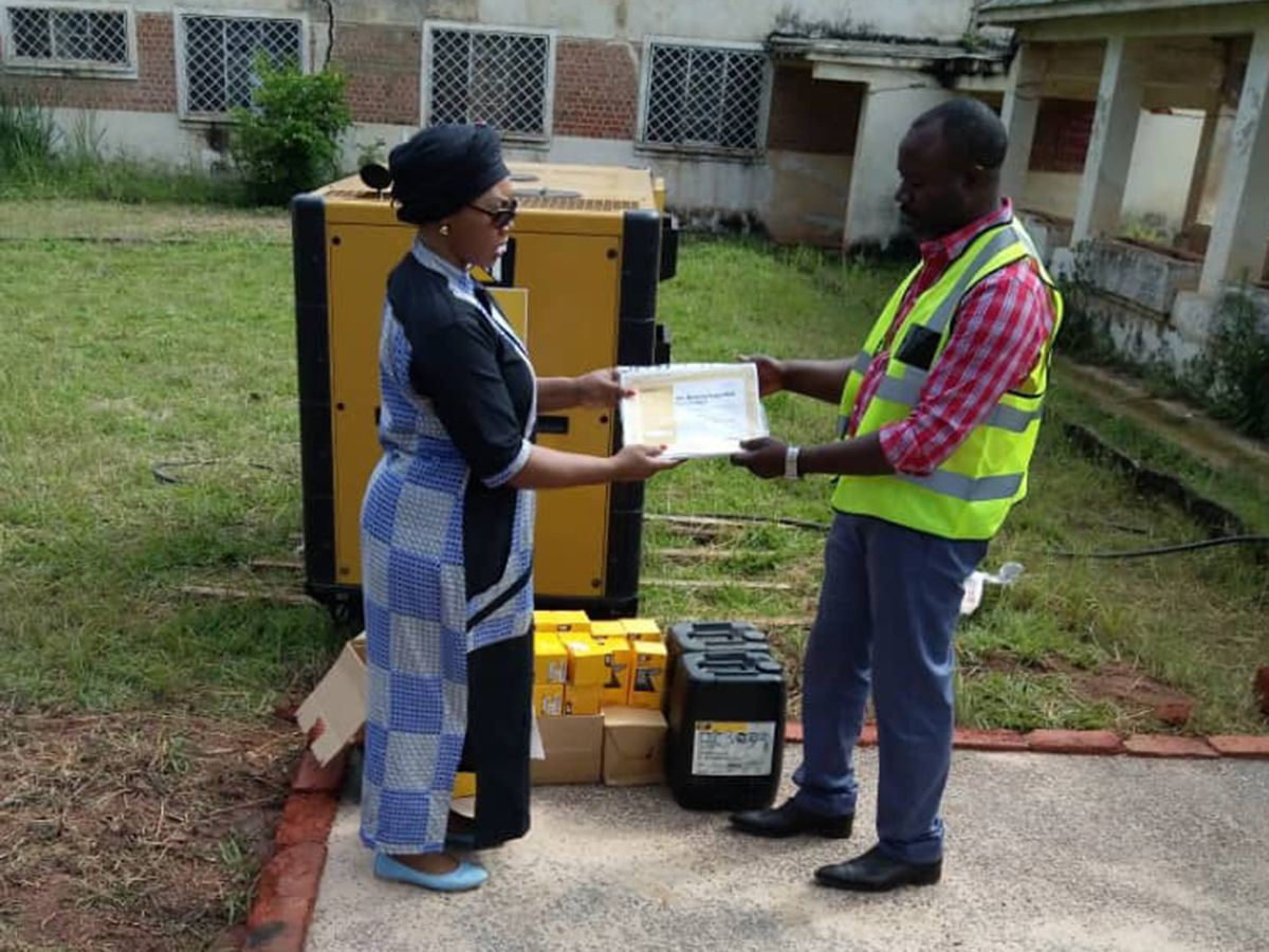 Cat® dealer supports Congo provincial hospital with critical standby power