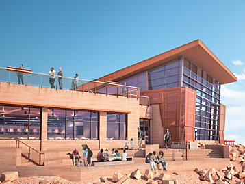 Artist's rendering of Pikes Peak Summit Complex