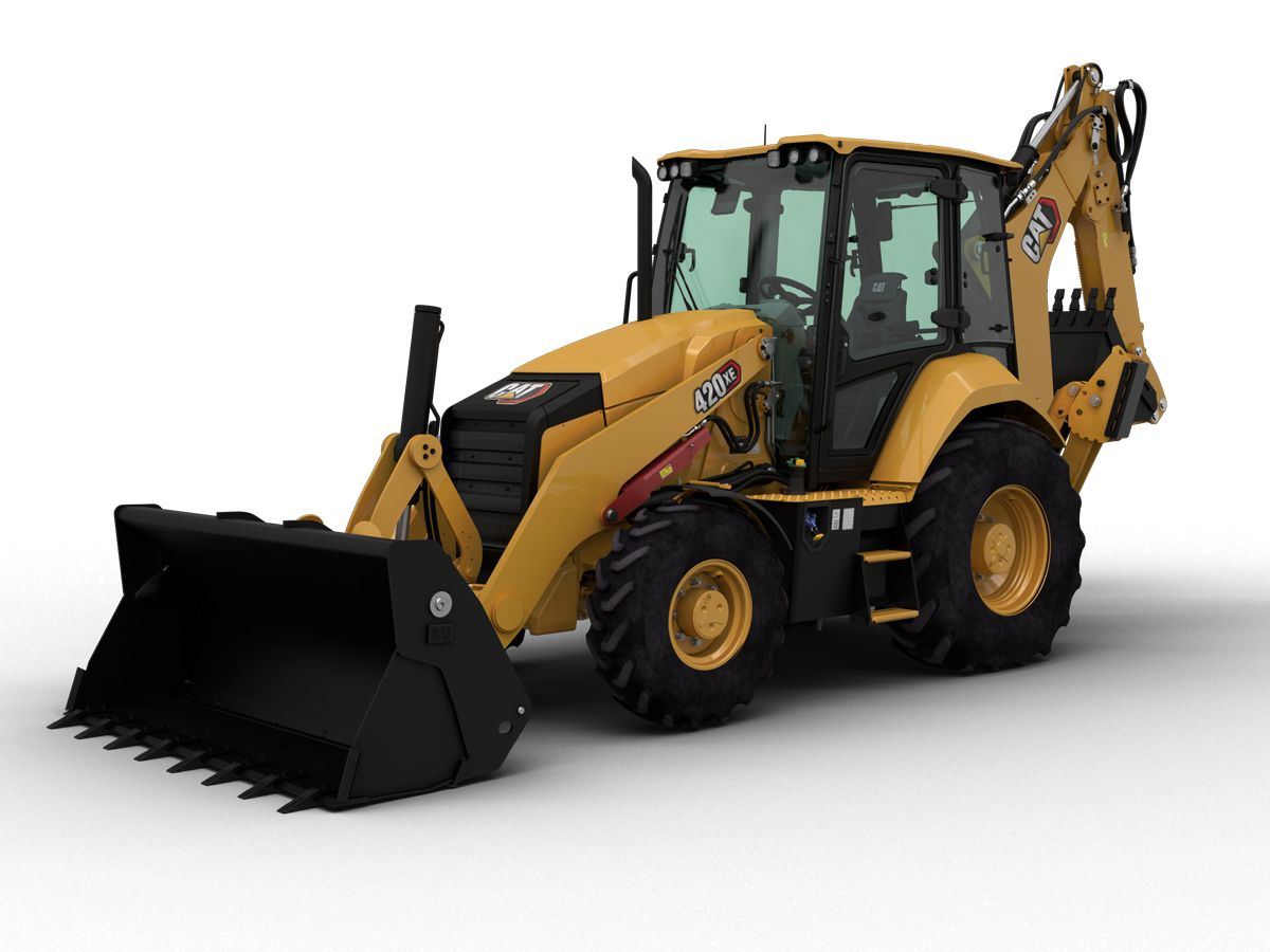 The new Cat® 420 XE Backhoe Loader is a workhorse of a machine, loaded with features to help you do more.