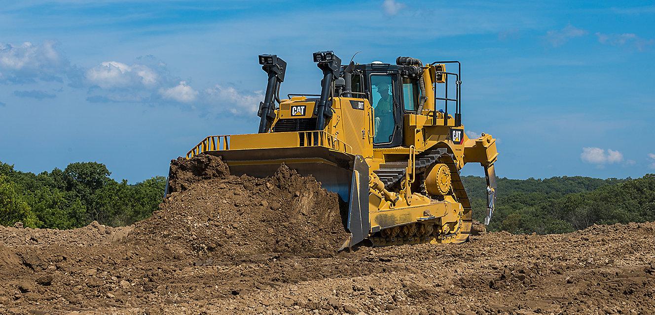 Dozer pushing dirt