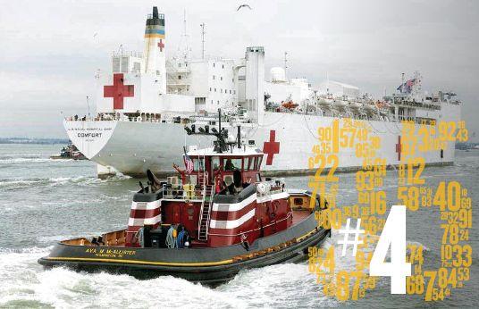 Docking the USNS Comfort Hospital Ship