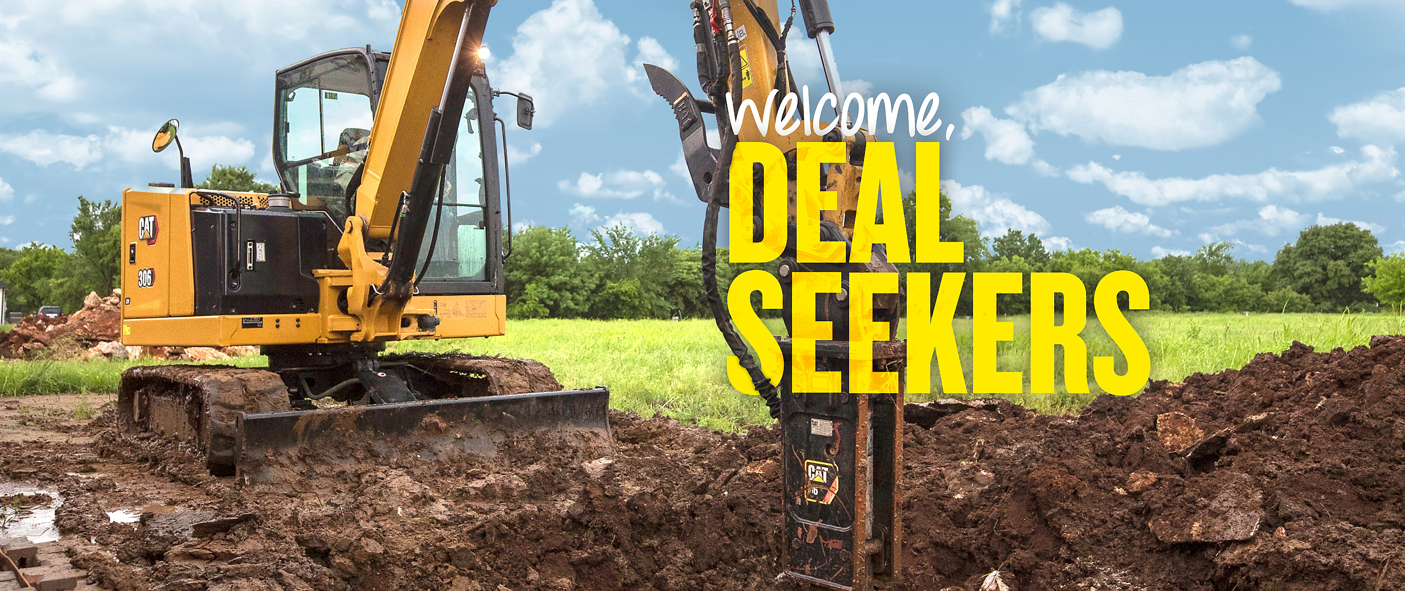 Cat Mini Excavator - Welcome, Deal Seekers