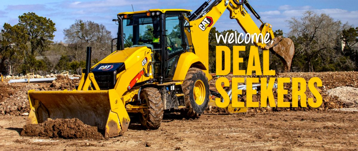 Cat Backhoe Loader - Welcome, Deal Seekers