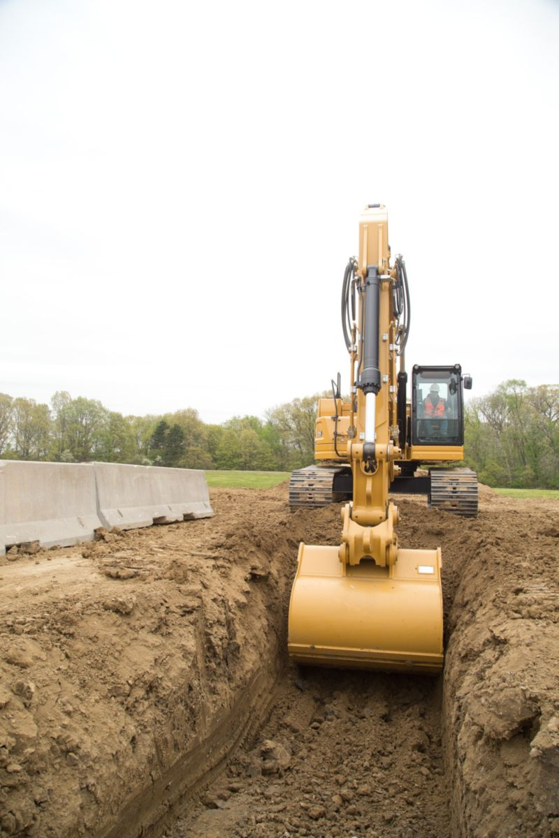 335 digging a trench>