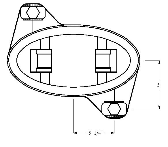 Egg Direct Fixation Track Fastener Line Drawing