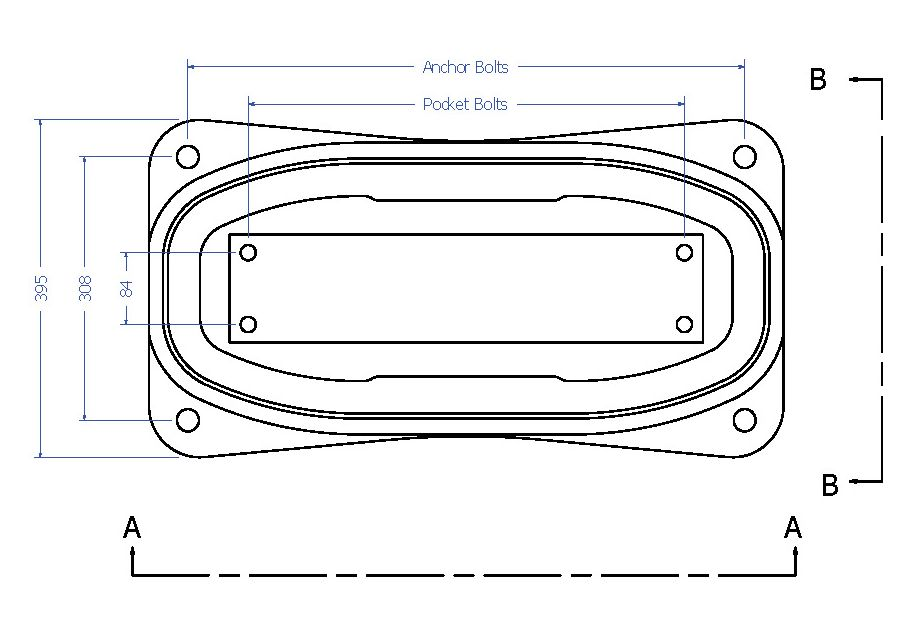 Egg Direct Fixation Track Fastener Line Drawing for Turnout