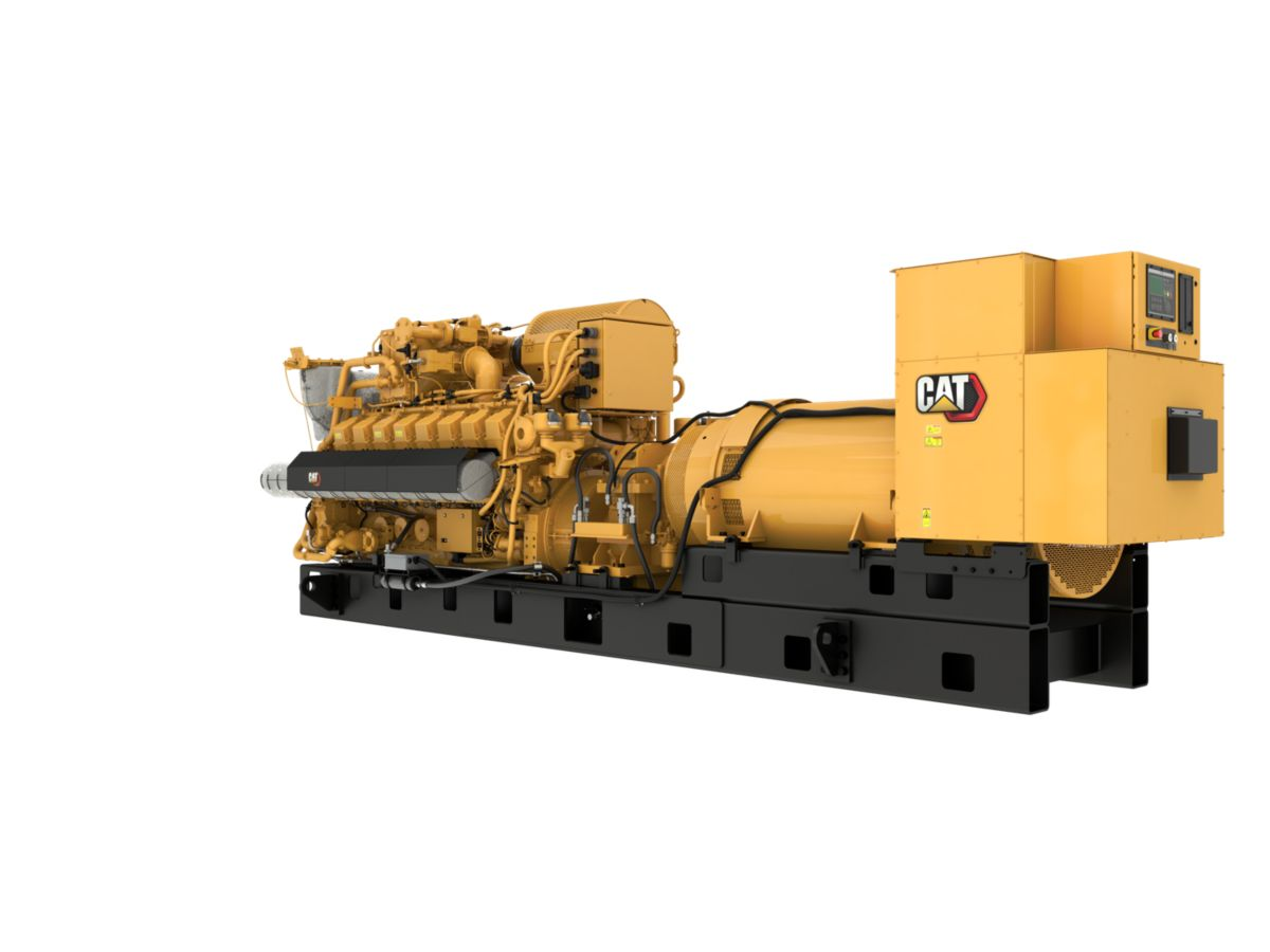 G3516H 60 Hz Gas Generator Sets Rear Left view>