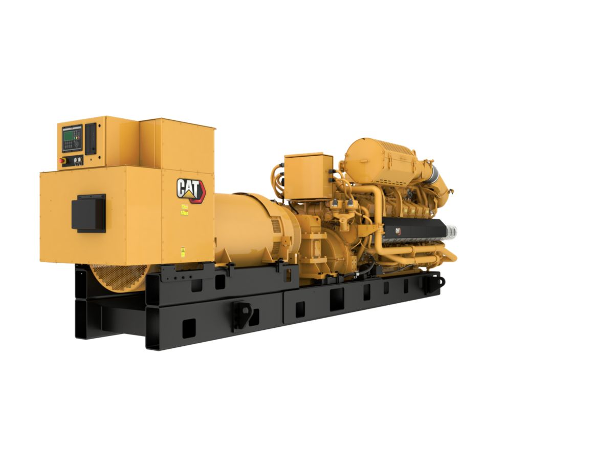 G3516H 60 Hz Gas Generator Sets Rear Right view>