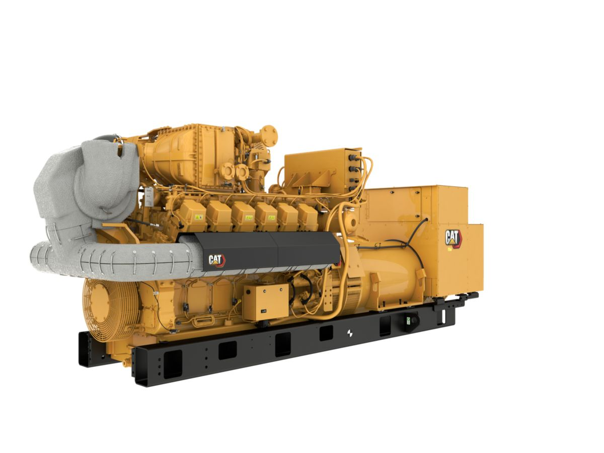 G3512H 50 Hz Gas Open Generator Set, Front Left view>