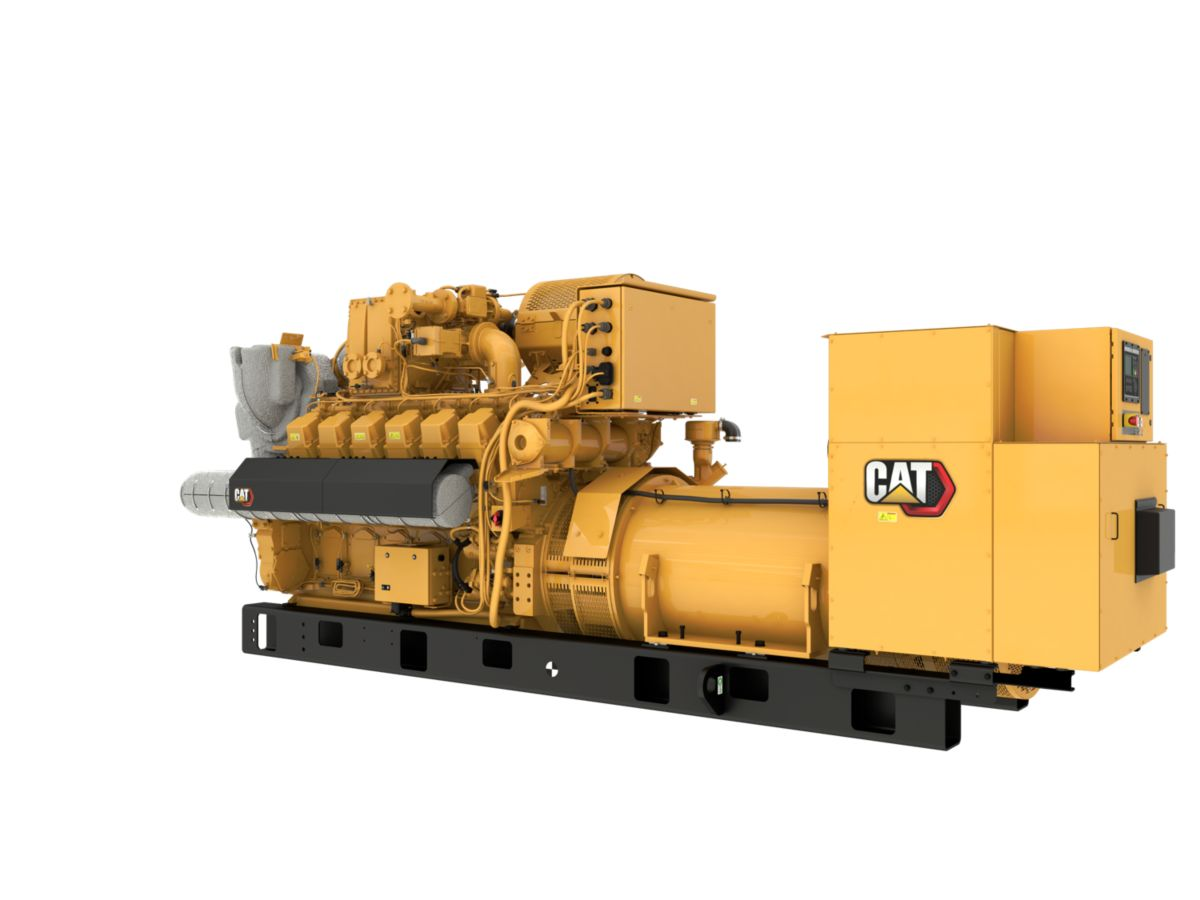 G3512H 50 Hz Gas Open Generator Set, Rear Left View>
