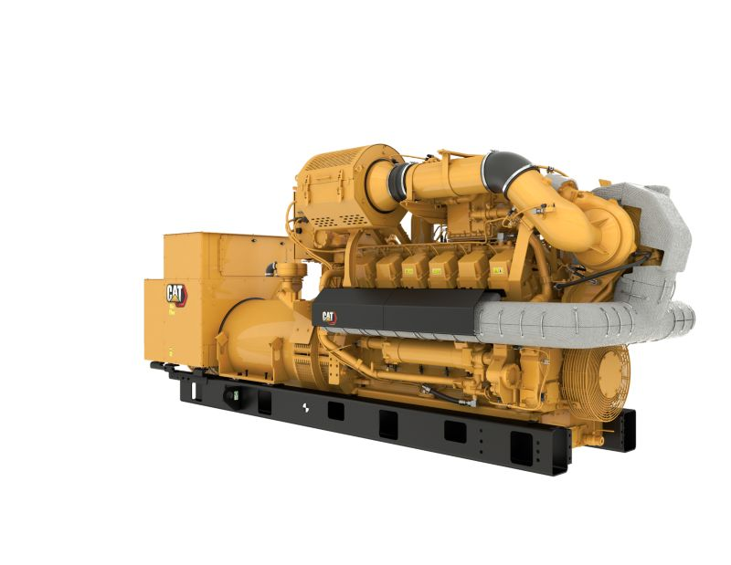 G3512H 50 Hz Gas Open Generator Set, Front Right View