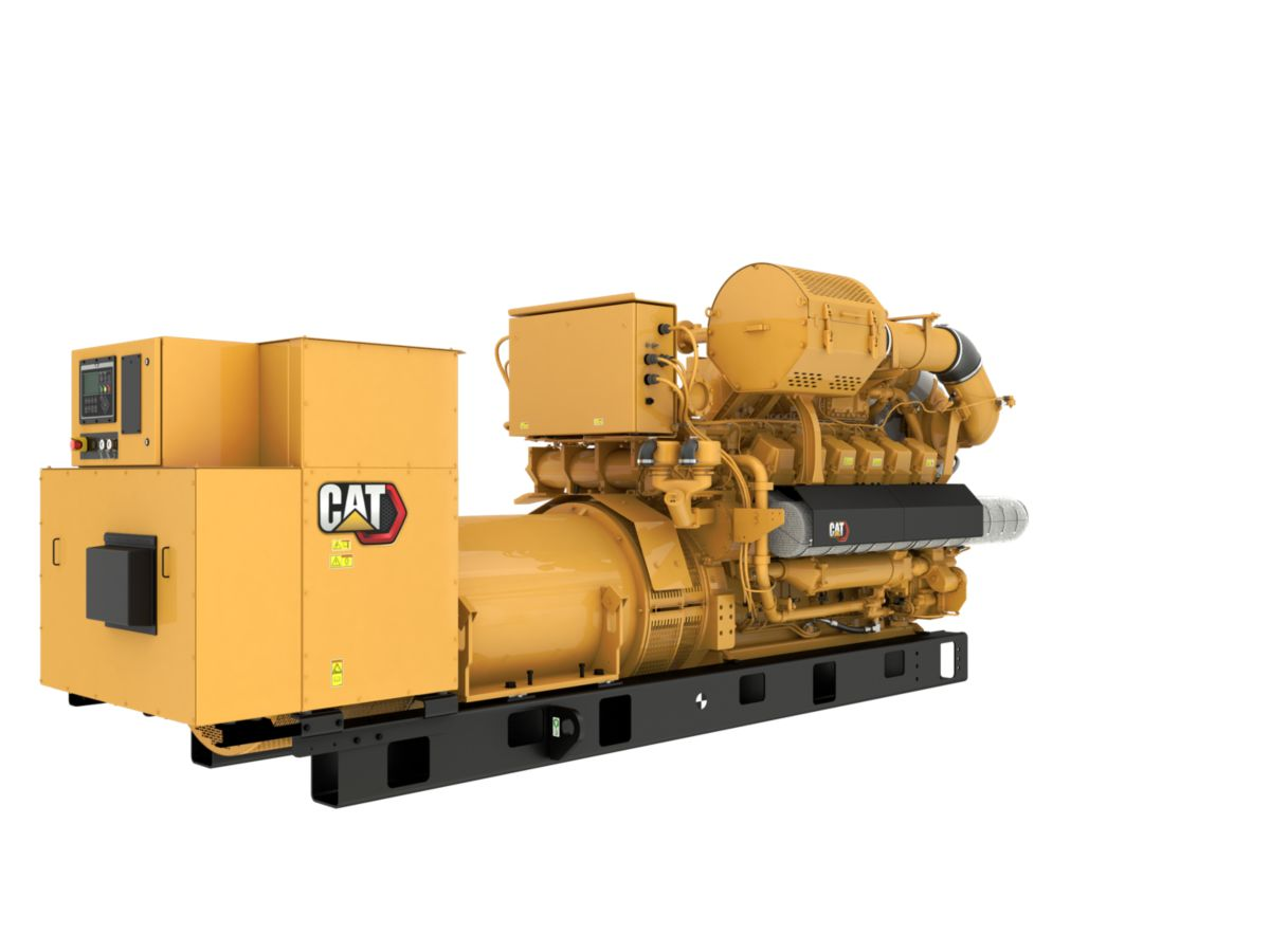 G3512H 50 Hz Gas Open Generator Set, Rear Right View>