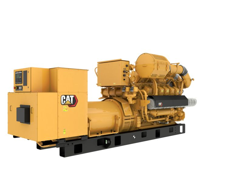G3512H 50 Hz Gas Open Generator Set, Rear Right View