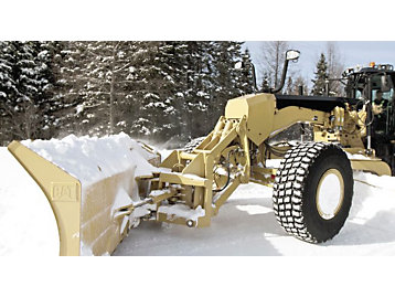 Motor graders for snow removal