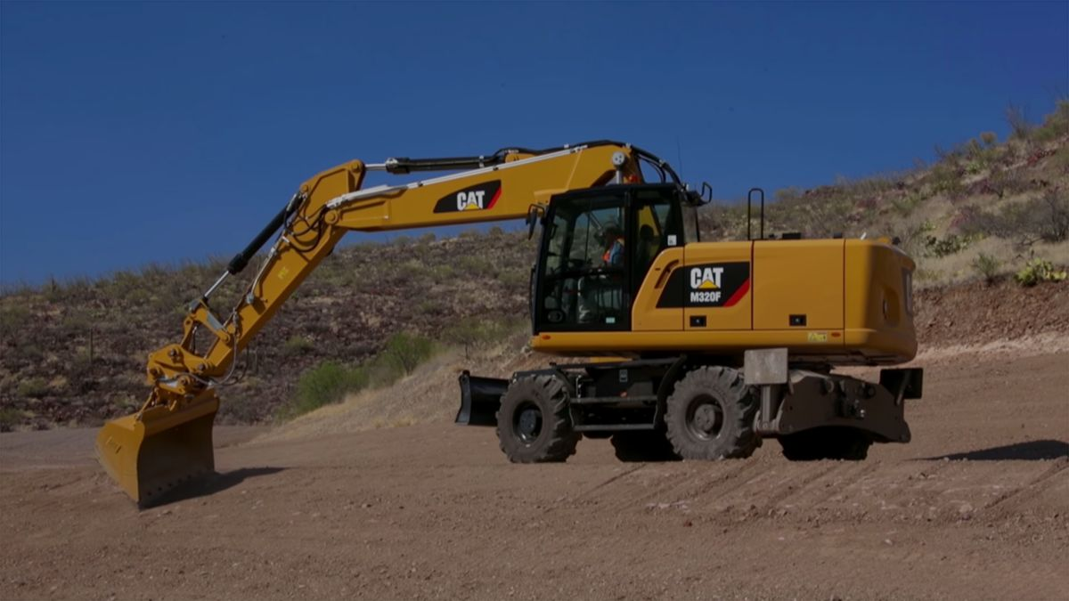 Cat M320F in action